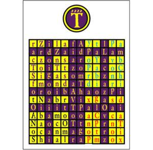 Enochian Watchower Tablet of Air, flashing crosses