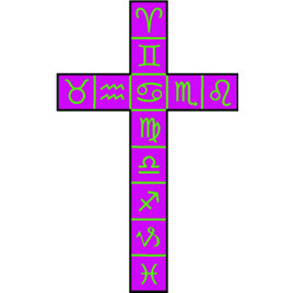 Golden Dawn Cross of 12 Squares