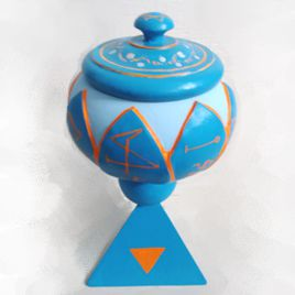 Golden Dawn Deluxe Lidded Water Cup